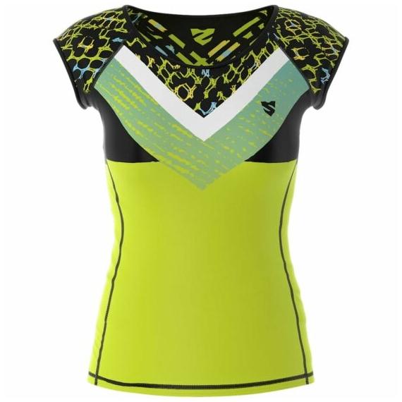 Női rövid ujjú sportfelső Lime